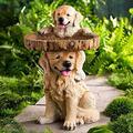 GUCHIS Bird Bath Bowl,Bird Bath Bowl for Garden Yard and Patio Decor, Resin Pedestal Fountain Decoration for Yard, Garden Planter Base Feeder 26cm Height