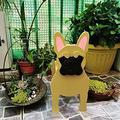 Cute Dog Shaped Gardening Pots, Creative Wooden Blocks Planter for Outdoor Plants, Cartoon Dog Planter Pots, Succulent Planters, Herb Garden Planter, Garden Yard Art Decor (A-French Bulldog)