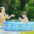 Large Family Swimming Pool Garden Outdoor Summer Inflatable Kids Paddling Pools Swimming Pool Inflatable Pool Above Ground Swimming Pool Swimming Pools Pools for Backyard Above Ground Pool