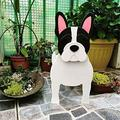 ZLHW Animal-Shaped Cartoon Planter Pots, Dog Planters Wooden, Hand Detailed Dog Planter, Cute Dog Design Herb Planter, for Indoor Outdoor Garden People Succulent Planters Decorations (Color : B)