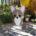 Cute Dog Shaped Gardening Pots, Creative Wooden Blocks Planter for Outdoor Plants, Cartoon Dog Planter Pots, Succulent Planters, Herb Garden Planter, Garden Yard Art Decor (Chihuahua Dog)