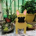 ZLHW Animal-Shaped Cartoon Planter Pots, Dog Planters Wooden, Hand Detailed Dog Planter, Cute Dog Design Herb Planter, for Indoor Outdoor Garden People Succulent Planters Decorations (Color : C)