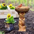 Bird Bath Garden Outdoor Bird Owl-Style Resin Bath Bowl for Wild Birds Free Standing Weatherproof Garden Water Feature for Home Garden Ornaments,Owl