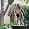 BLLXMX Birdhouses, Birdhouses Wooden Outside Hanging Bird House for Garden Bird Houses Creative Decoration Outdoor Wooden Bird Feeder Outdoor Farm Courtyard Garden Villa Bird House Hut (Size : 30cm)