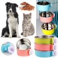 CUH Stainless Steel Dog Bowl For Dish Water Dog Food Bowl Pet Puppy Cat Bowl Feeder Feeding Dog Water Bowl For Dogs Cats