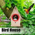 ANGGREK Wooden Bird House,Outdoor Wooden Bird Nests House Birdcage Birds Warmth Breeding Resting Box Accessories,Bird Nests