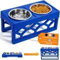AVERYDAY Adjustable Dog Bowl Stand Dog Bowl Set 4 Dog Food Bowl 4 Custom Elevated Dog Bowl Height - Large Dog Feeder Elevated Dog Bowls for Large Dogs and Raised Dog Bowls for Medium Dogs