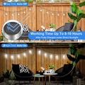 4 Pack Outdoor Hanging Solar Lights - Cracked Glass Solar Lights Waterproof LED Decorative Ball Lights Tree Solar Powered Globe Lights with Hook for Garden Yard Umbrella Holiday Decoration