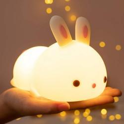 LED Changing Color Nightlight for Children Kids Baby Nursery Toddler Newborn Bedroom Bedside Kawaii Boy Girl Room Decor Rabbit Gifts