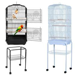 Brand New 59-inch Open Top Medium Parakeet Bird Cages for Parakeets Finches Canaries Lovebirds Small Quaker Parrots Cockatiels Budgie Green Cheek Conure Travel Pet Flight Bird Cage Birdcage White