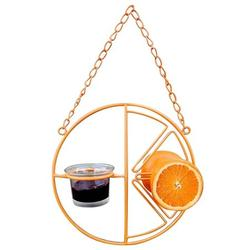 SJENERT Clementine Oriole Feeder, Hanging Clementine Hummingbird Oriole Feeder, Oriole Bird Feeder for Outdoors Jelly and Oranges(Orange)