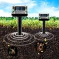2 Pack Solar Mole Repellent,Outdoor Waterproof Ultrasonic Gopher Repellent Vole Repellant Gopher Repellent Rodent- Protect Your Lawn and Garden of Outdoor