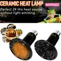 100W/150W 2 Pack Infrared Ceramic Heat Emitter Reptile Heat Lamp Bulb No Light Emitting Brooder Coop Heater for Amphibian Pet and Incubating Chicken