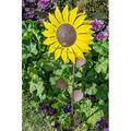 Bird Feeder - Sunflower Standing Bird Feeder Outdoor Flower Shape Bird Feeding Station Art Metal Pole Birdfeeder Garden Decor Stake Ideal Gift for for Nature Lover, Wild Bird Watche