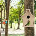 Kritne Wood Bird House, Breeding Box Hanging Bird House Pet Supplies, For Parrots Budgerigar Small Birds(17 X 14 X 12 Cm)