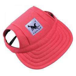 Clearance Dog Hat,Dog Sunscreen Hat Baseball Cap Outdoor Sports Hat with Ear Holes and Chin Strap Adjustable Hat for Small and Medium Dog