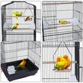 lzndeal 59 Bird Cage Pet Supplies Metal Cage With Rolling Stand