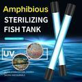 Life LED Aquarium Light Fish Tank Light Led Bar Underwater UV Light Sterilizer Pond,Submersible Waterproof Light Lamp Strip Fish Tank Lamps Fish Night Light White LEDs