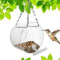 Hanging Window Bird Feeder with Suction Cups and Chains: Removable, Round Birdfeederfor Watching Wild Birds. Bird Lover Gift for Garden, Backyard, Patio, Deck (Round)