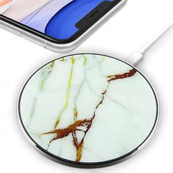 Wireless Charger (10W) for iPhone 12 Pro Max, 12, 12 Mini, 12 Pro, SE (2020), 11 Pro Max, 11 Pro, iPhone 11, Xs Max, Xs, Xs Plus, XR, X, 8, 8 Plus (White Marble)