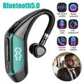 Bluetooth Headset, TSV Wireless Bluetooth Earpiece V5.0, Wireless Earphone Waterproof Earpiece, Bluetooth Earbud with Noise Cancelling, Built-in Microphone, Fit for Business/Office/Driving Trucker