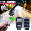 EVERKING 1pcs Solar Street Light Outdoor, LED Solar Powered Motion Sensor Light, Security Wireless Waterproof Solar Flood Light Auto On/Off with Remote Control, Suitable for Parking Lot Yard Garden