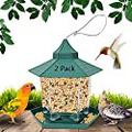 2 Pack Hummingbird Feeders for Outdoors, Large Capacity Bird Feeders for Outside,Outdoor House Squirrel_Proof Bird Feeders Hexagon Shape with Roof for Garden Yard Patio Outside Decoration