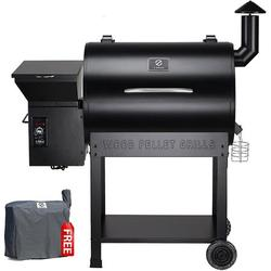 Z Grills ZPG-7002B 2020 Upgrade Wood Pellet Grill & Smoker, 8 in 1 BBQ Grill Auto Temperature Controls, inch Cooking Area, 700 sq in Black