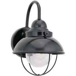 Sea Gull Lighting 8870-12 Outdoor Wall Bracket, Black, Finish: Black - Glass: Clear SeededGlass By Visit the Sea Gull Lighting Store