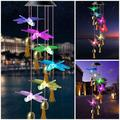 Solar Butterfly LED Wind Chimes Outdoor - Waterproof Solar Powered LED Changing Light Color 6 Butterflies Mobile Romantic Wind-Bell for Home, Party, Festival Decor, Night Garden Decoration