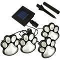 Outdoor LED Paw Solar Decor Lamp (Set of 4) Solar Dog Cat Animal Paw Print Lights for Patio, Yard, Walkway, Garden, Path, Lawn, Yard Lighting, Any Pet Dog Cat Lover (Solar Paw)