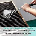 Grill Brush and Scraper, Safe Wire Bristles Stainless Steel Barbecue Cleaning Brush, BBQ Cleaner Accessories, Professional Barbecue Cleaning Tool, Bristle Free Grill Brush, 18 Inch Handle
