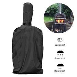 Black Outdoor Pizza Oven Rainproof Cover Barbecue Box Dust Proof Waterproof PVC Coating Cover