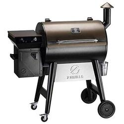Z Grills ZPG-7002F 2020 Upgrade Wood Pellet Grill & Smoker, 8 in 1 BBQ Grill with PID Controller, Meat Probes, Hopper Clean-Out & Pellet View Window, inch Cooking Area, 700 sq in Bronze