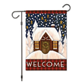 """Welcome Friends Birds Flowers Butterfly Double Sided Garden Yard Flag 12"""" x 18"""", Summer Spring Flowers Decorative Garden Flag Banner for Outdoor Home Decor Party"""