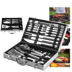 27PCS BBQ Accessories Grill Set, Grill Accessories BBQ Tools with Bag Stainless Steel BBQ Set Grill Utensils Set for Smoker Outdoor Camping Kitchen Barbecue BBQ Gifts for Men Women