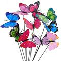 """OtooKing 50pcs Garden Butterfly Stakes,2.76"""" Width Waterproof Butterflies for Flower Plant Pot Butterfly Decorations Patio Decorations Outdoor Clearance Garden Decor Christmas Decorations Flower Pots"""