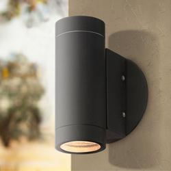 Possini Euro Design Possini Euro Matte Black Up And Down Wall Light