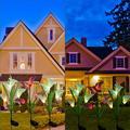 WEELBIN 3 Pack Solar Lights Outdoor Garden Stake Flower Lights LED Total 12 Flower