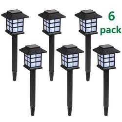 Solar Yard Lights Outdoor Lights for Patio, SEGMART Solar Powered Outdoor Lights Waterproof Garden Lights, Path Lights Solar Lights for Walkway Garden Outside Driveway, Auto Charge, 6 Pack, H1145
