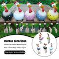BOOBEAUTY Garden Figurines,Resin Chicken Garden Decoration, Resin Hilde Garden Decoration,Animal Figure Garden Ornament for The Home,Art Decorative