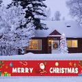 Merry Christmas Poster Background Banner, Extra Large (20 inches x 118inches) Fabric Christmas Santa Claus Porch Sign for Xmas Party, Christmas Garden Yard Banner Outdoor Indoor Decorations