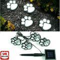 4 Solar Paw Print Lights Dog Path LED Cute Lawn Garden Patio Yard Decor Walkway-2PK