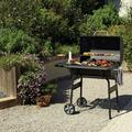 """Charcoal Grill, BTMWAY Portable Outdoor BBQ Grill, Metal Outdoor Barbecue Grill, Outdoor Smoker with Side Table, Clamshell Meat Cooker Smoker Charcoal Oven for Outdoor, 55.1""""Hx48.4""""Wx27.2"""" L, A3131"""