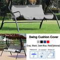 Zaqw Swing Chair Cover,Outdoor Swing 3‑Seat Chair Waterproof Cushion Replacement for Patio Garden Yard,Swing Cushion