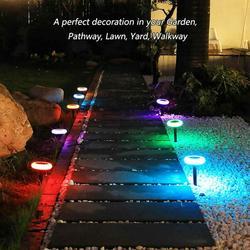 4 Pcs solar lights outdoor garden Super Bright Decorative Colorized Solar Lights Outdoor, IP65 Weatherproof Auto On/Off Solar Garden Lights for Garden Lawn Yard Walkway