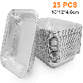 Aluminum Foil Grill Drip Pans -Bulk Pack of Durable Grill Trays Disposable BBQ Grease Pans Compatible with Made Also Great for Baking, Roasting & Cooking