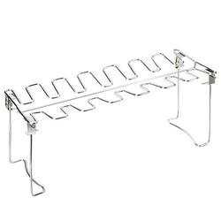 1PC Foldable BBQ Grill Rack Stainless Steel Drumsticks Grill Portable Outdoor Barbecue Rack Multi-purpose Barbecue Rack Practical Barbecue Accessories