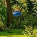 "OIENS Hummingbird Feeder - 28"" Hummingbird Feeders for Outdoors, Bird Feeders for Outside, Blue flower Bird Feeder Outdoor Garden Yard Decoration"