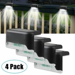 Solar Deck Lights, 4pcs Solar Step Lights Outdoor Auto On/Off Solar Stair Lights Waterproof Wireless Solar Powered Lights for Fence Patio Garden Pathway